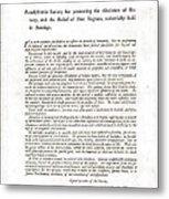 Abolitionist Address By Benjamin Metal Print by Everett