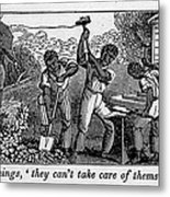 Abolitionist Cartoon Satirizing Slave Metal Print by Everett