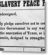 Abolitionist Peace Pledge Metal Print by Granger