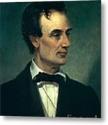 Abraham Lincoln, 16th American President Metal Print by Photo Researchers, Inc.