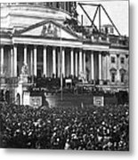 Abraham Lincolns First Inauguration - March 4 1861 Metal Print by International  Images
