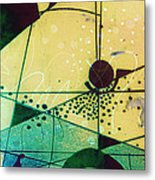 Abstract 209 Metal Print by Ann Powell