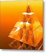 Abstract Computer Artwork Of A Pyramid Of Arrows Metal Print by Laguna Design