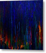 Abstract Evergreens Metal Print by Claire Bull