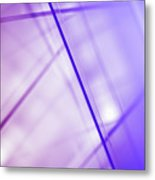 Abstract Intersecting Lines On A Glass Surface Metal Print by Ralf Hiemisch