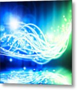 Abstract Lighting Effect  Metal Print by Setsiri Silapasuwanchai