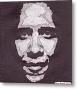 Abstract Obama Metal Print by Angel Roque