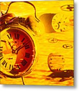 Abstract Time Metal Print by Garry Gay