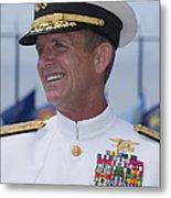 Admiral Eric T. Olson Speaks Metal Print by Michael Wood