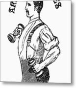 Advertisement: Suspenders Metal Print by Granger