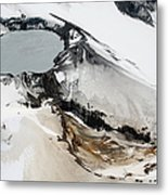 Aerial View Of Snow-covered Ruapehu Metal Print by Richard Roscoe