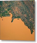 Aerial View Of Uncultivated Landscape Metal Print by Tobias Titz