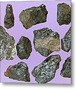 Aeschynite-(y) Samples Metal Print by Dirk Wiersma