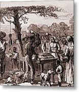 African American Freedmen Receiving Metal Print by Everett