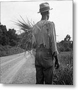 African American Man In Living In Rural Metal Print by Everett