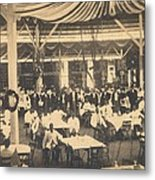 African American Waiters At A Banquet Metal Print by Everett