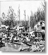 African Americans Left Homeless Metal Print by Everett