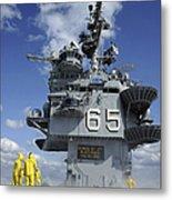 Air Department Sailors Test Metal Print by Stocktrek Images
