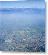 Air Pollution Over Los Angeles Metal Print by Detlev Van Ravenswaay