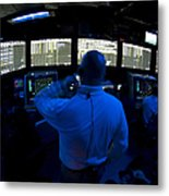 Air Traffic Controller Watches Metal Print by Stocktrek Images