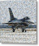 Airforce F-4866 Mosaic  Metal Print by Darleen Stry