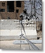 Airman Stands Post To The Entry Control Metal Print by Stocktrek Images
