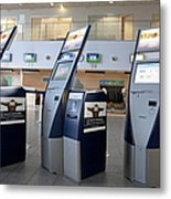 Airport Check In Terminals Metal Print by Jaak Nilson