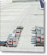 Airport Tarmac Metal Print by Shannon Fagan
