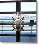 Alcatraz Island The Doors Of The Maritime Museum In San Francisco California . 7d14086 Metal Print by Wingsdomain Art and Photography