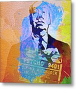 Alfred Hitchcock Metal Print by Naxart Studio