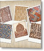 Alhambra Textures Metal Print by Jane Rix