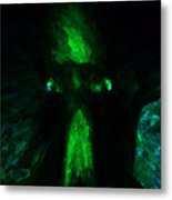 Aliens - First Contact - Green Metal Print by Wingsdomain Art and Photography