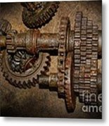 All Geared Up With No Place To Go Metal Print by The Stone Age