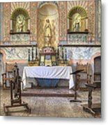 Altar At Mission La Purisima State Metal Print by Douglas Orton