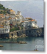 Amalfi Daytime Scenic Metal Print by George Oze