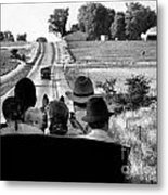 Amish Family Outing Metal Print by Julie Dant