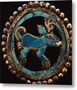An Ancient Moche Indian Ear Ornament Metal Print by Bill Ballenberg