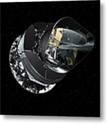 An Artists Concept Of The Planck Metal Print by Stocktrek Images