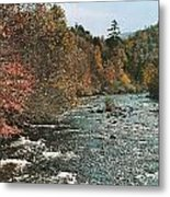 An Autumn Scene Along Little River Metal Print by J. Baylor Roberts