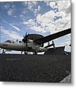 An E-2c Hawkeye Aircraft Prepares Metal Print by Stocktrek Images