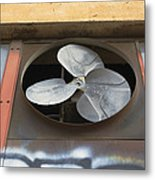 An Exhaust Fan At A Ventilation Outlet Metal Print by Nathan Griffith