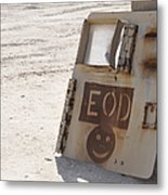 An Explosive Ordnance Disposal Logo Metal Print by Stocktrek Images