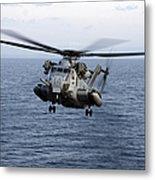 An Mh-53e Sea Dragon In Flight Metal Print by Stocktrek Images