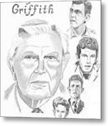 Andy Griffith Metal Print by Gail Schmiedlin