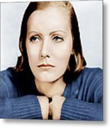 Anna Christie, Greta Garbo, Portrait Metal Print by Everett