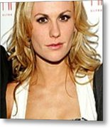 Anna Paquin At Arrivals For Hbos True Metal Print by Everett