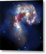 Antennae Galaxies, Composite Image Metal Print by Nasa