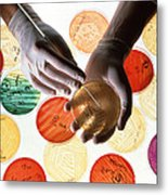 Antibiotic Research Metal Print by Geoff Tompkinson