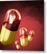 Antidepressant Medication Metal Print by Victor Habbick Visions