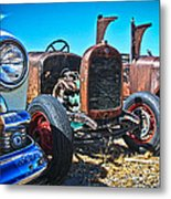 Antique Auto Sales Metal Print by Steve McKinzie